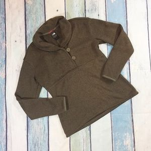 The North Face Women's Brown 1/2 Button Sweater M